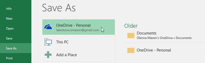 کاربرد OneDrive در اکسل 2016 . آموزشگاه رایگان خوش آموز