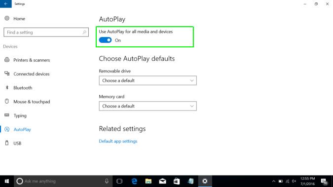 فعال سازی Autoplay در ویندوز 10 . آموزشگاه رایگان خوش آموز