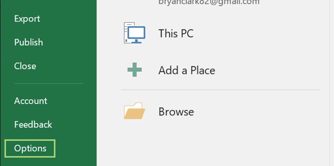 ایجاد یک منوی میانبر جدید در مایکروسافت اکسل . آموزشگاه رایگان خوش آموز