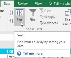 19. مرتب سازی داده ها در اکسل 2016 . آموزشگاه رایگان خوش آموز