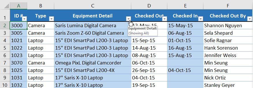 20. فیلتر کردن داده ها در اکسل 2016 . آموزشگاه رایگان خوش آموز