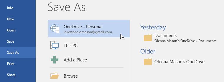 2. کاربرد OneDrive در ورد 2016 . آموزشگاه رایگان خوش آموز