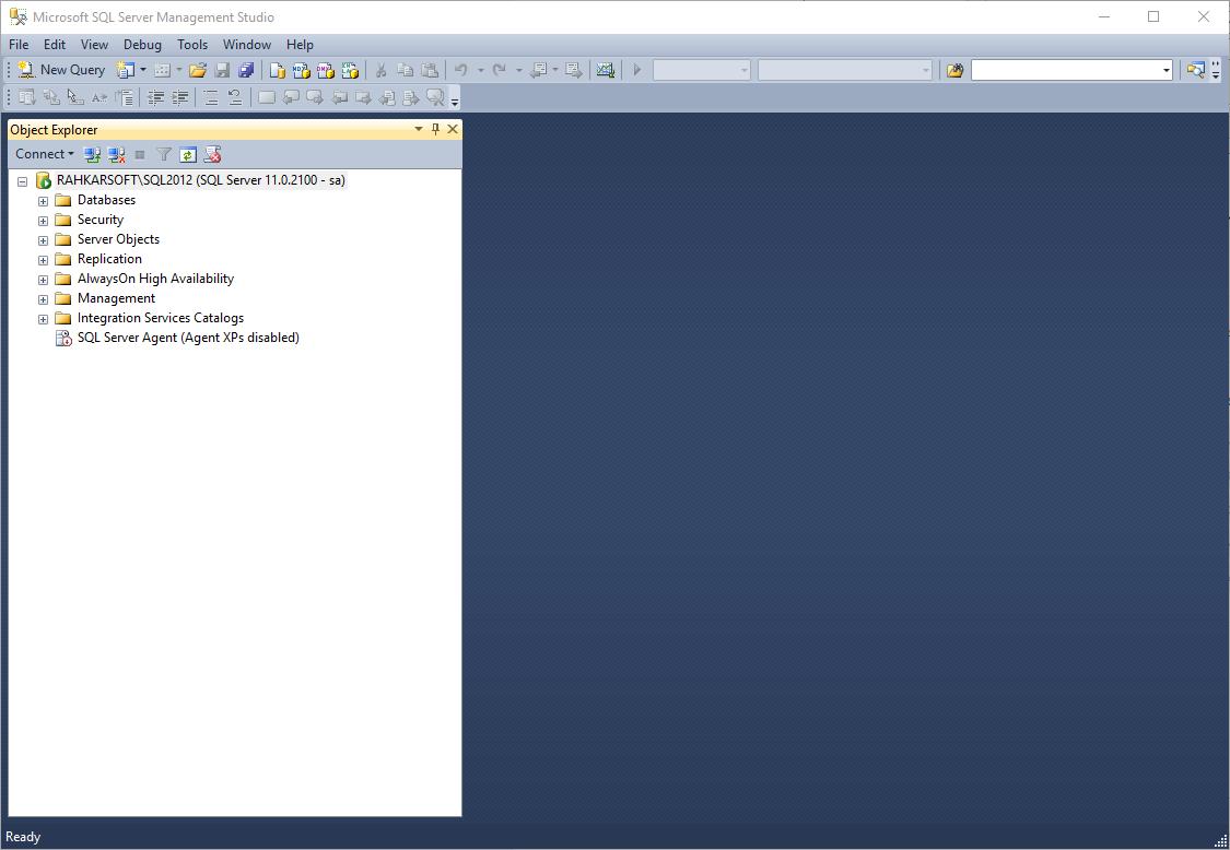 2. آموزش SQL Server به زبان ساده. ورود به محیط اس کیو ال سرور