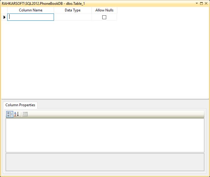 5. آموزش SQL Server به زبان ساده. ایجاد جدول (Table)