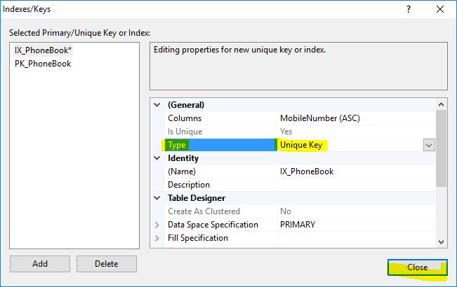 9. آموزش SQL Server به زبان ساده. جلوگیری از ثبت داده های تکراری در یک فیلد جدول
