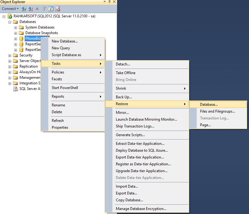 20. آموزش SQL Server به زبان ساده. نحوه بازیابی نسخه پشتیبان (Restore) در SQL Server