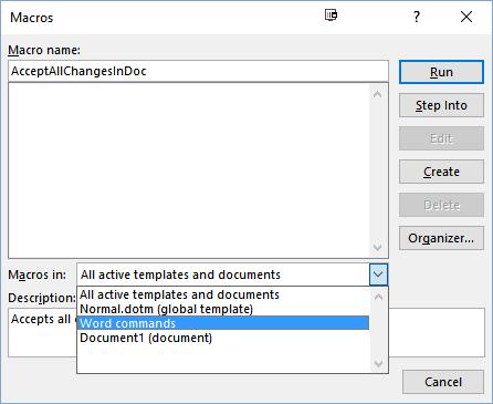 نمایش همه shortcut های نرم افزار word . آموزشگاه رایگان خوش آموز