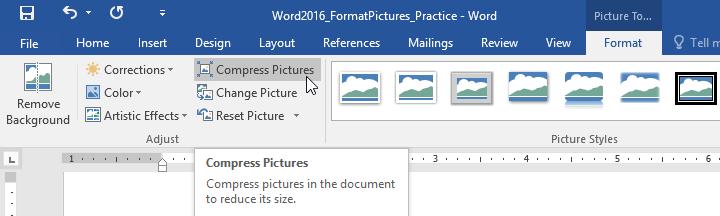 19. قالب بندی تصاویر (Formatting Pictures) در ورد 2016