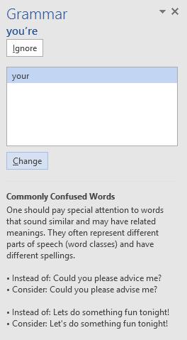 25. بررسی املاء و دستور زبان (Checking Spelling and Grammar) در ورد 2016