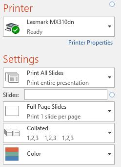 11. چاپ (Printing) در پاور پوینت 2016