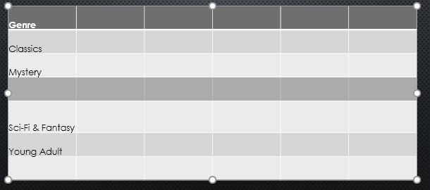 22. جدول ها (Tables) در پاور پوینت 2016
