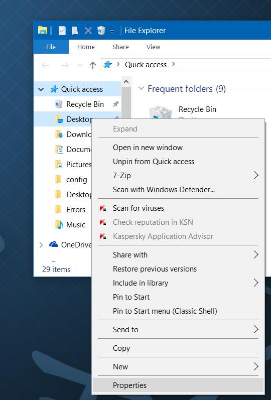 انتقال پوشه Documents و Downloads به درایو دیگر در ویندوز 10 . آموزشگاه رایگان خوش آموز