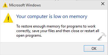 حل مشکل Your Computer Is Low On Memory در ویندوز . آموزشگاه رایگان خوش آموز