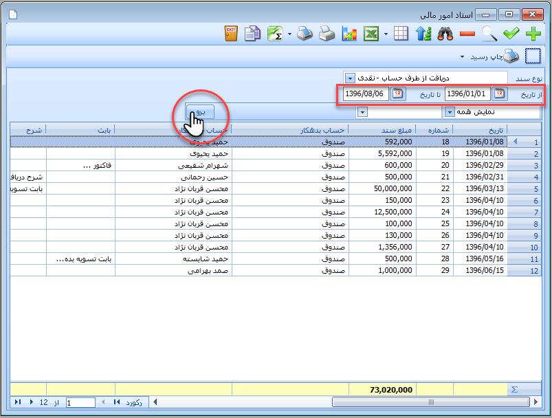 مدیریت اسناد امور مالی