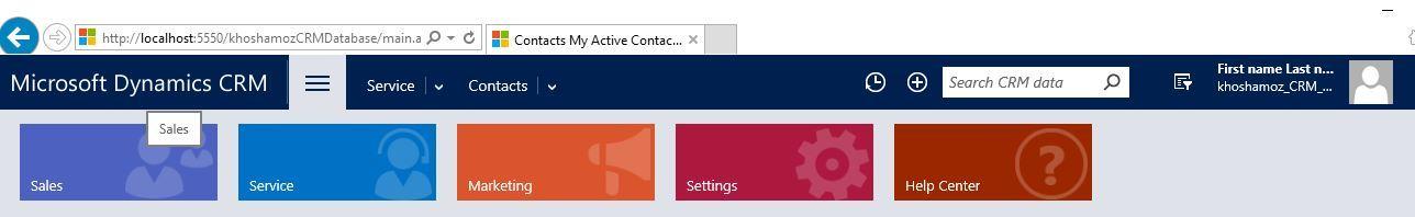 آموزش مایکروسافت CRM 2016 - افزودن Contact . آموزشگاه رایگان خوش آموز