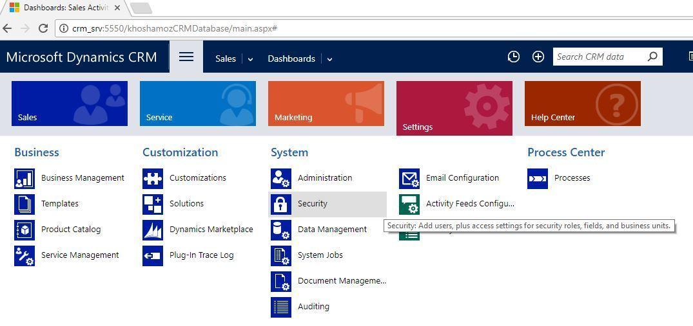 آموزش مایکروسافت CRM 2016 - اضافه کردن واحدهای سازمانی . آموزشگاه رایگان خوش آموز