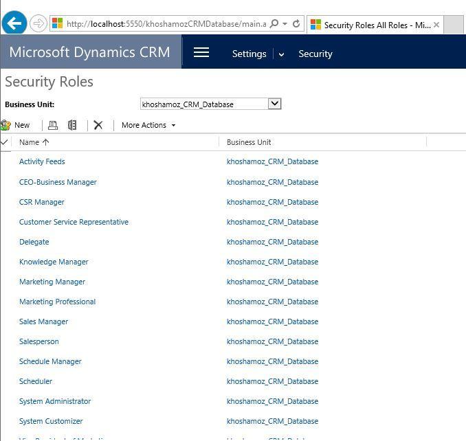 آموزش مایکروسافت CRM 2016 - تخصیص دسترسی به کاربران . آموزشگاه رایگان خوش آموز