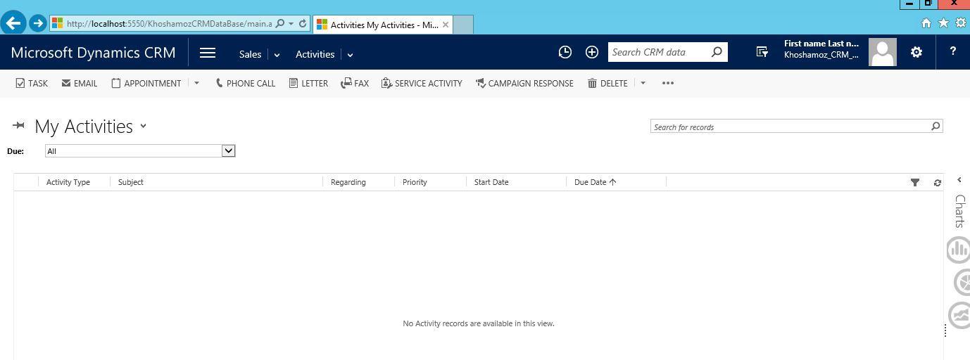 آموزش مایکروسافت CRM 2016 - بخش Activity - ایجاد Task . آموزشگاه رایگان خوش آموز