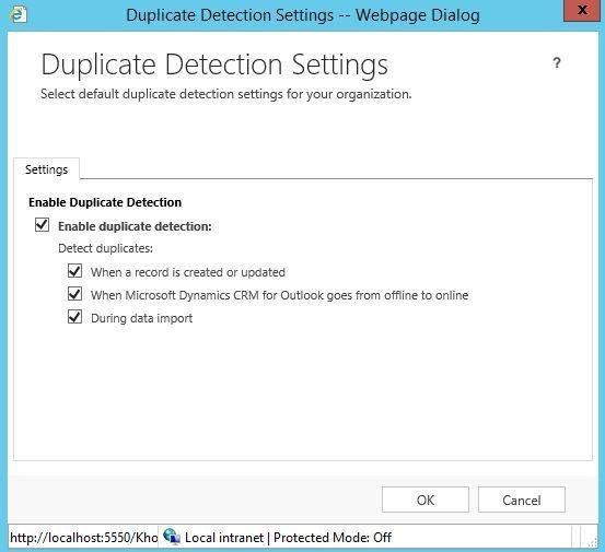 آموزش مایکروسافت CRM 2016 - تنظیمات Duplicate Detection Settings . آموزشگاه رایگان خوش آموز
