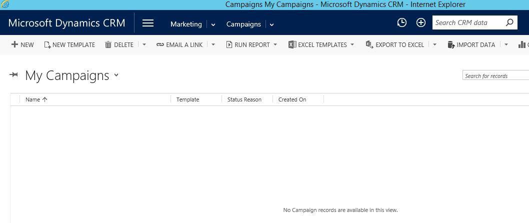 آموزش مایکروسافت CRM 2016 - آشنایی با فرم Campaigns . آموزشگاه رایگان خوش آموز