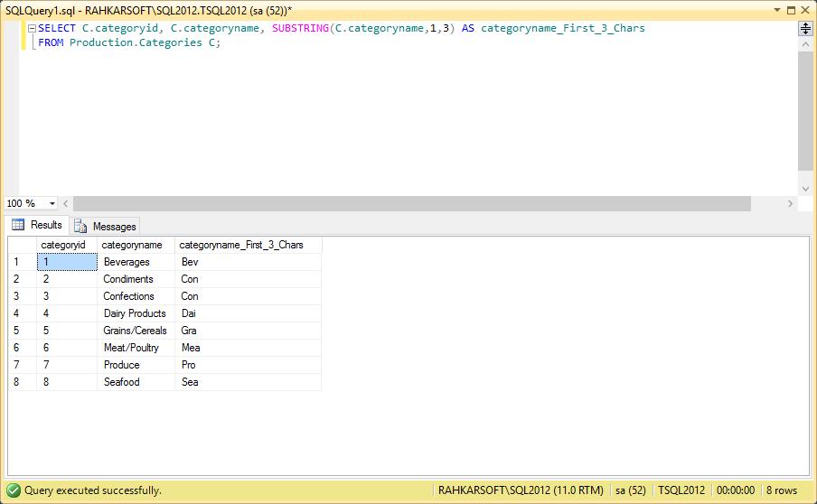 استفاده از دستور Substring و استخراج بخشی از متن توسط آن