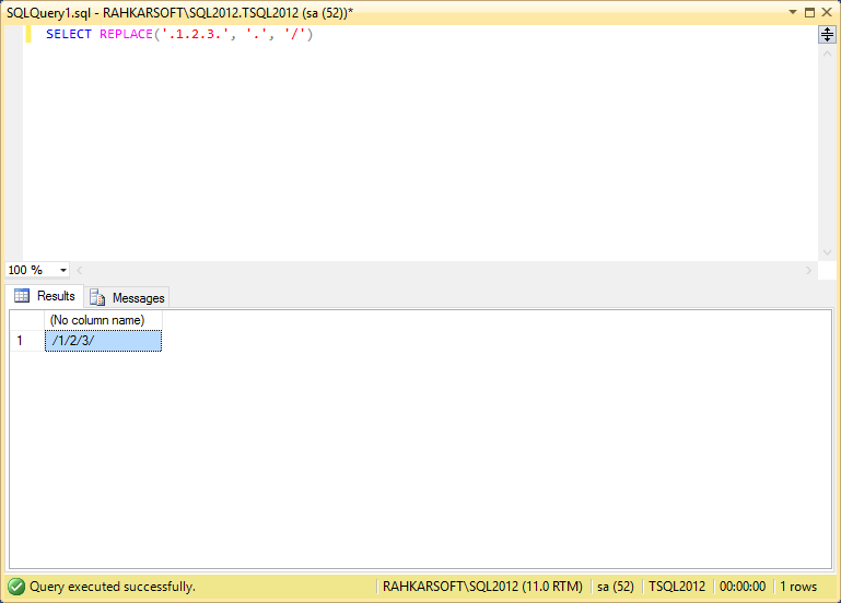 26. استفاده از تابع REPLACE برای جایگزین کردن یک متن با متنی دیگر