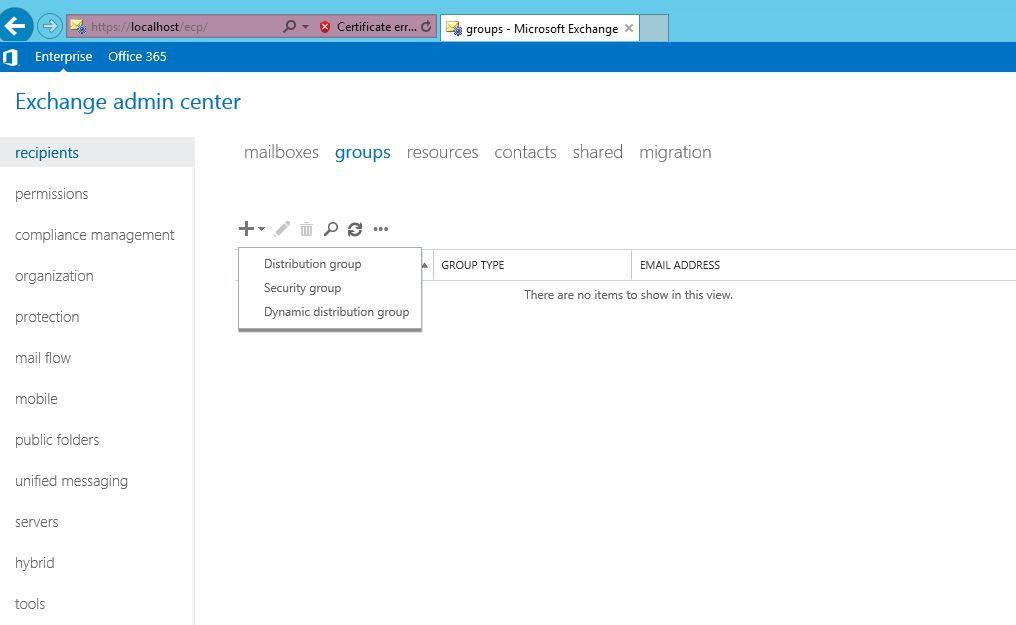 آموزش مایکروسافت exchange server 2016 - بخش Groups - ایجاد Security Group . آموزشگاه رایگان خوش آموز