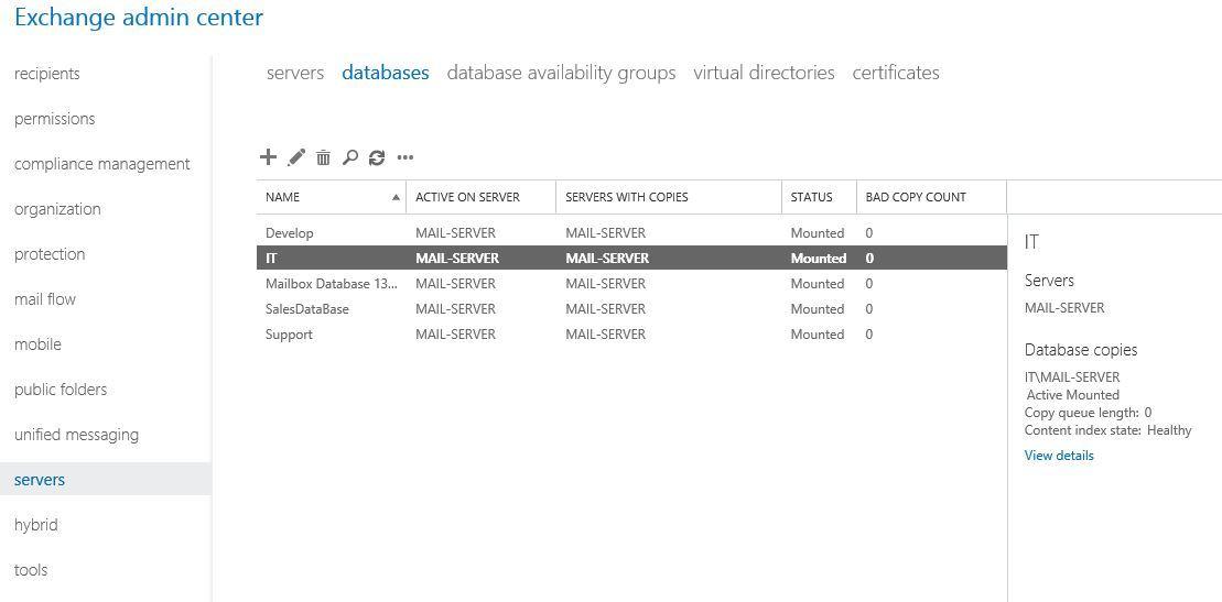 آموزش مایکروسافت exchange server 2016 - بررسی تنظیمات maintenance دیتابیس ها . آموزشگاه رایگان خوش آموز