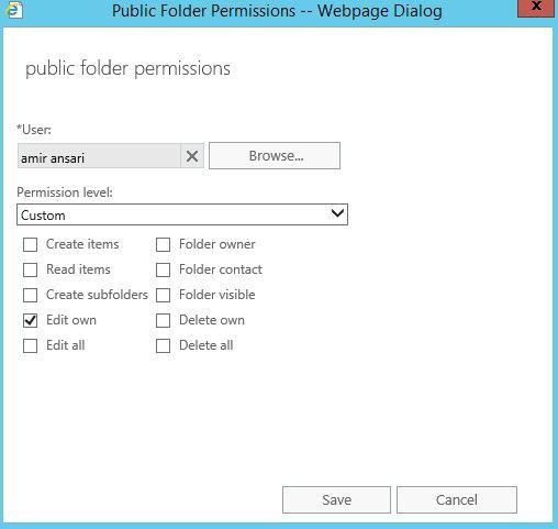 آموزش مایکروسافت exchange server 2016 - بخش Public folder - مدیریت دسترسی ها یا manage permissions . آموزشگاه رایگان خوش آموز