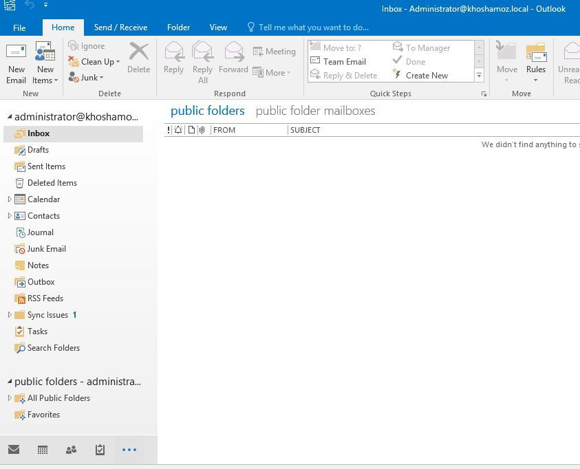 آموزش مایکروسافت exchange server 2016 - بخش Public folder - استفاده از Public Folder ها . آموزشگاه رایگان خوش آموز