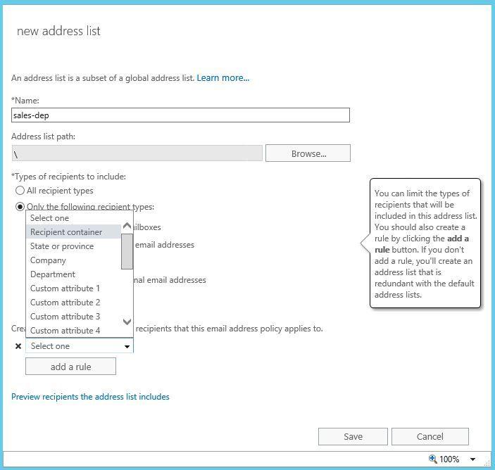 آموزش مایکروسافت exchange server 2016 - بخش Address list . آموزشگاه رایگان خوش آموز