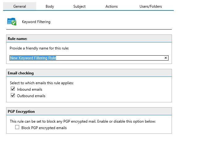 آموزش مایکروسافت exchange server 2016 - فیلترینگ محتوا . آموزشگاه رایگان خوش آموز