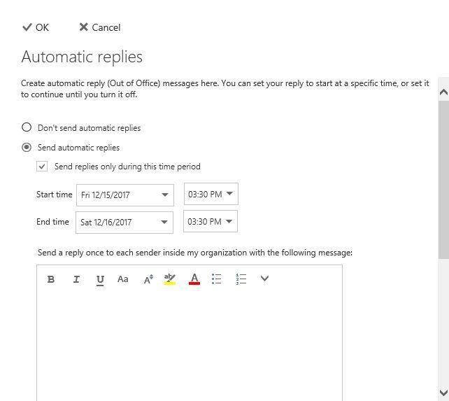 آموزش مایکروسافت exchange server 2016 - فعالسازی auto replies در owa . آموزشگاه رایگان خوش آموز