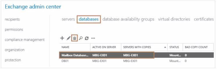 آموزش مایکروسافت exchange server 2016 - حذف دیتابیس پیش فرض اکسچنج . آموزشگاه رایگان خوش آموز