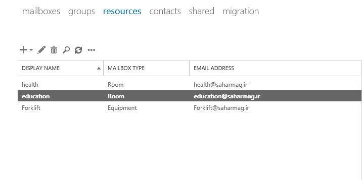 آموزش مایکروسافت exchange server 2016 - ایجاد Resource mailbox با دستورات Shell . آموزشگاه رایگان خوش آموز