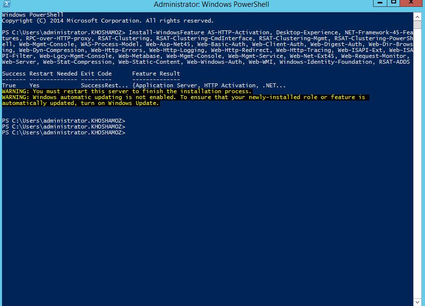 نصب پیش نیازهای Exchange server 2013 . آموزشگاه رایگان خوش آموز