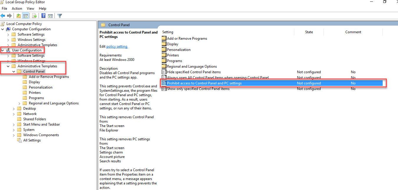 جلوگیری از دسترسی به Control panel - بخش اول . آموزشگاه رایگان خوش آموز