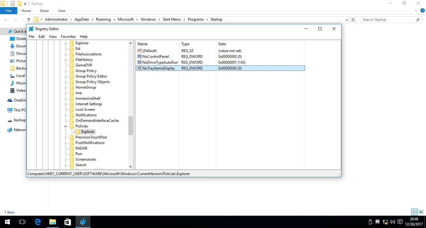 نمایش یا مخفی کردن notification area یا system tray در ویندوز . آموزشگاه رایگان خوش آموز