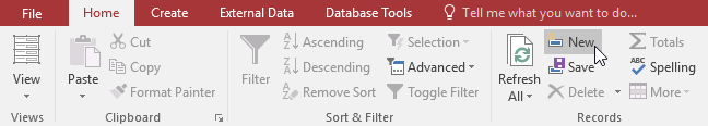 کار کردن با فرمها (Forms) در اکسس 2016