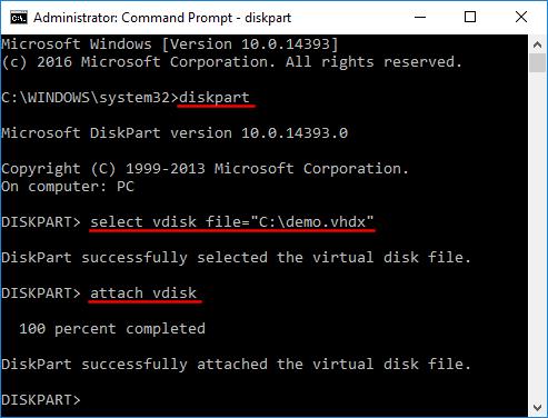 mount یا Unmount کردن فایل های VHD/VHDX در ویندوز . آموزشگاه رایگان خوش آموز