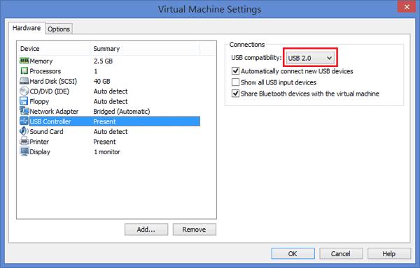 عدم شناسایی USB device ها در VMware Workstation . آموزشگاه رایگان خوش آموز