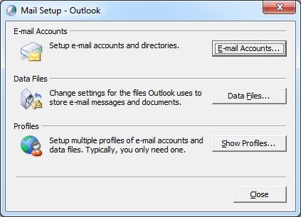 خطای Outlook data file cannot be accessed در Outlook . آموزشگاه رایگان خوش آموز
