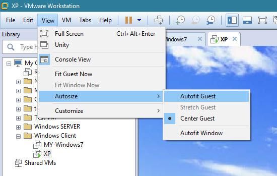 Fit کردن نمایش VM در VMWare workstation | خوش آموز