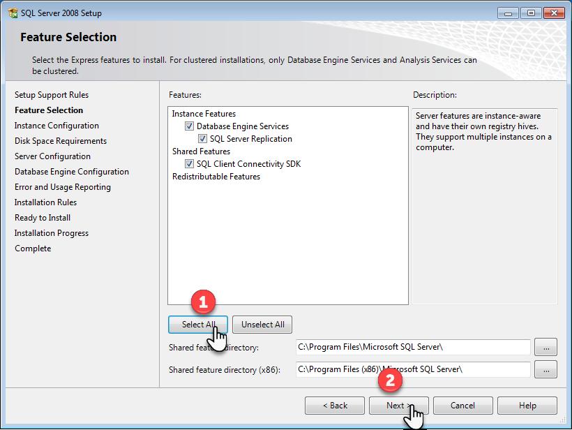 آموزش تصویری و گام به گام نصب نسخه اکسپرس اس کیو ال سرور 2008