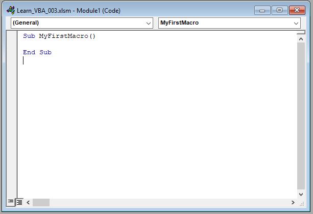 آموزش برنامه نویسی اکسل : نوشتن اولین ماکرو با کد نویسی