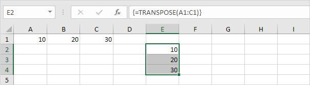 چگونگی کار با Transpose در اکسل
