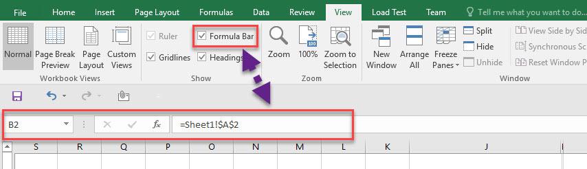 نمایش یا مخفی کردن Formula bar، Gridlines، Heading در اکسل . آموزشگاه رایگان خوش آموز