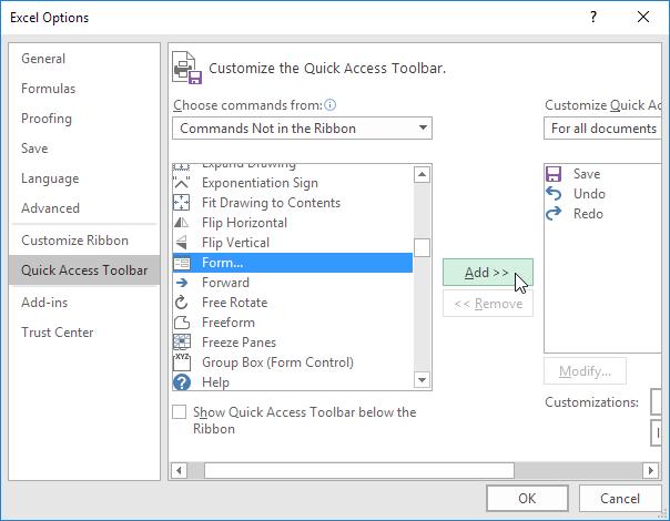 آموزش کار با Quick Access Toolbar (نوار ابزار دسترسی سریع) و تنظیمات آن در اکسل