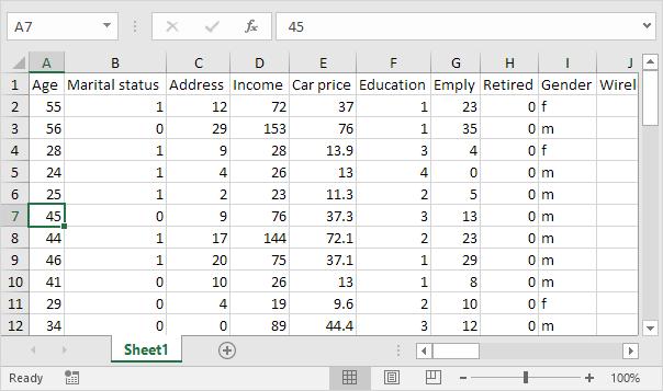 چگونگی استفاده از ویژگی Split برای جدا کردن قسمتهای مختلف صفحه در اکسل