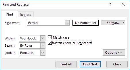 چگونگی استفاده از ویژگی Find (پیدا کردن) در اکسل